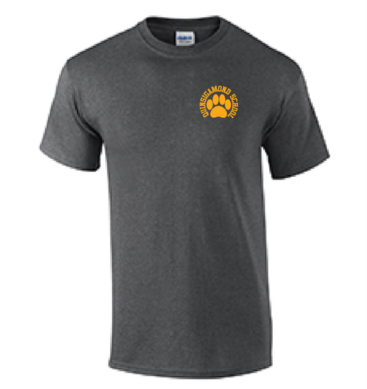 (Quinsigamond Store) Dark Heather Grey short sleeve -  Paw
