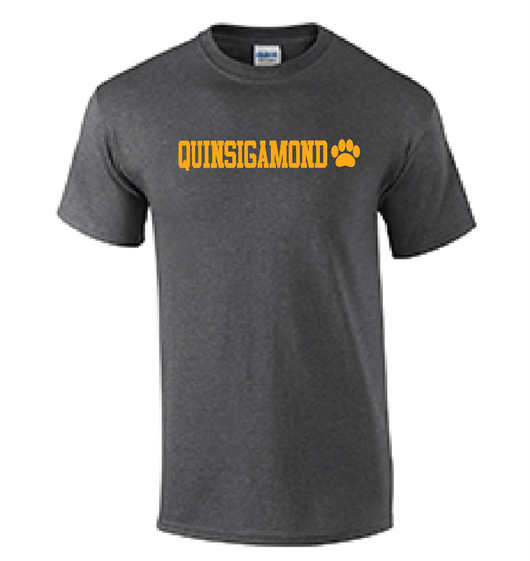 (Quinsigamond Store) Dark Heather Grey short sleeve -  Quinsigamond