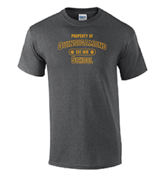 (Quinsigamond Store) Dark Heather Grey short sleeve -  Property of
