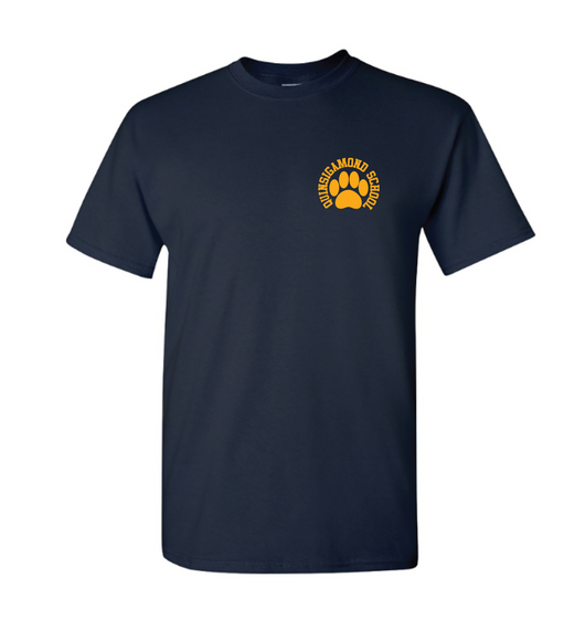 (Quinsigamond Store) Navy blue short sleeve -  Paw