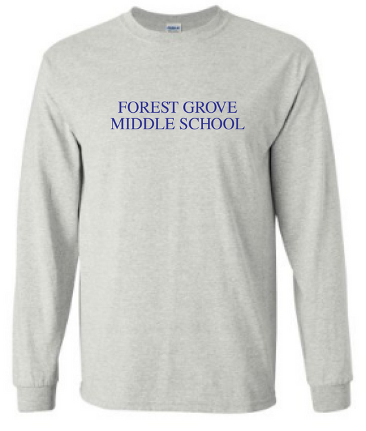 FG- g240 Ash grey long sleeve t-shirt  Adult
