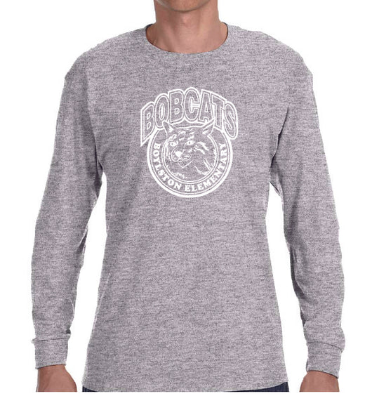(Boylston Bobcats) Sport Grey Long Sleeve- ADULT G540