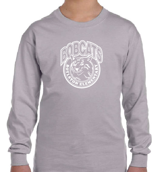 Copy of (Boylston Bobcats) Sport Grey Long Sleeve- YOUTH G540B
