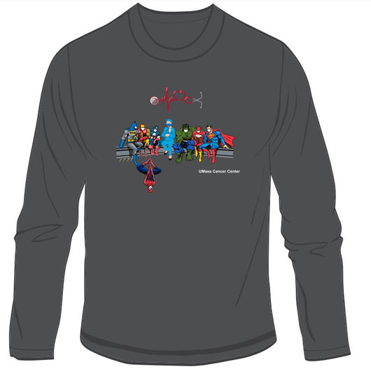 UMass Cancer Center Super Hero Nurse Long Sleeve