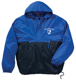 WB Adult 1/4 Zip Nylon Hooded Jacket