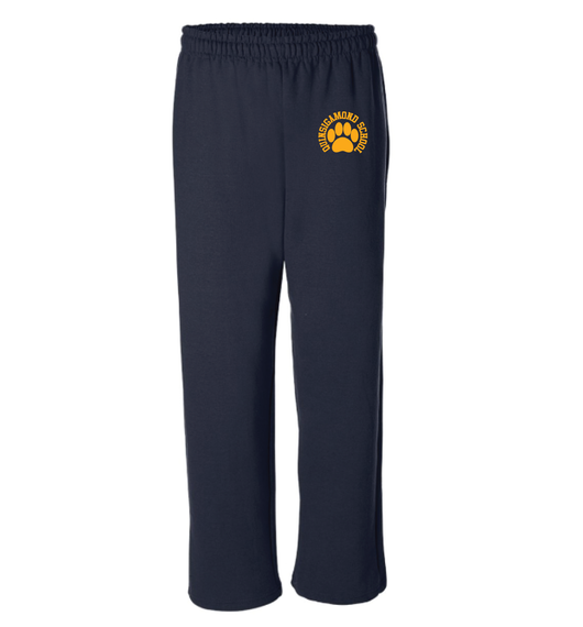(Quinsigamond Store) Open Bottom Navy blue sweat pant -  Paw