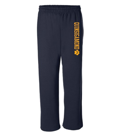 (Quinsigamond Store) Open Bottom Navy blue sweat pant -  Quinsigamond