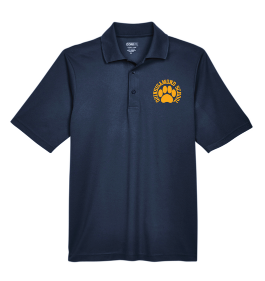 (Quinsigamond Store) Navy Blue Polo Shirt -  Paw