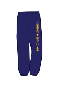 (Forest Grove Middle School)  Black Tapered Sweat Pants  g182