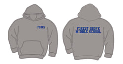 (Forest Grove Middle School)  Gildan Gray Hooded Sweatshirt g185