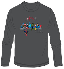 UMass Cancer Center Super Hero Healthcare Worker Long Sleeve