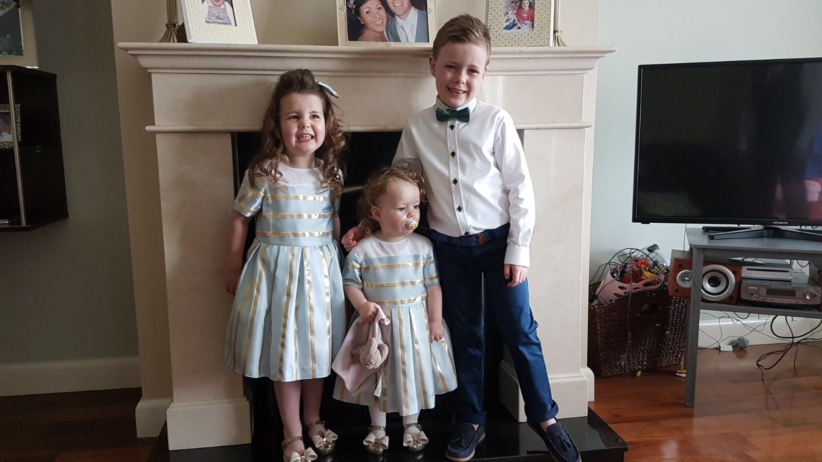 Girls and boys wedding outfits