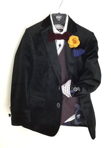 1880 Black Velvet Blazer And Boys Accessories