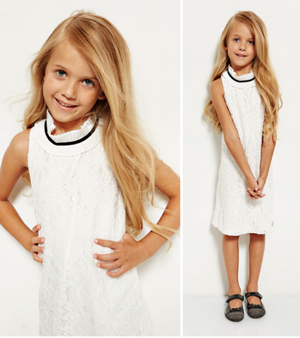 Girls Guess White Dress