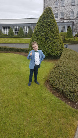 joseph gillespie in boys wedding outfit
