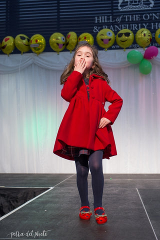 Girls red christmas coat