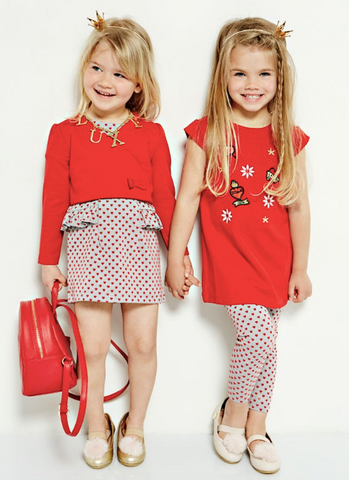 Guess Kids Girls Red Heart Print Outfit