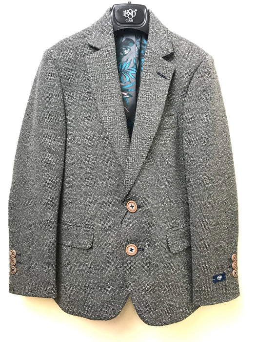1880 Club Boys Communion Tweed Grey