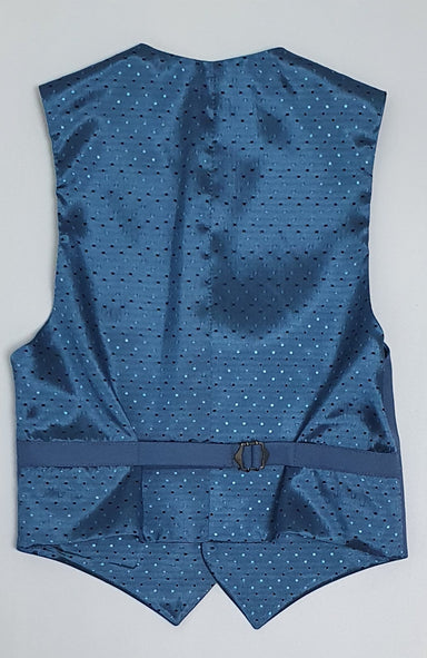 1880 Club Boys Blue Single Checked Waistcoat