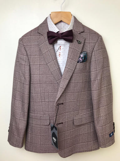 1880 Club Boys Brown/Burgundy Suit