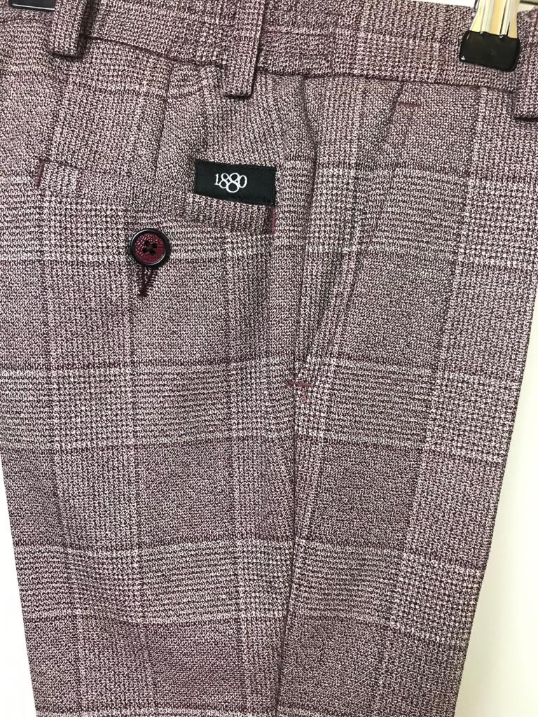1880 Club Boys Burgundy Trousers
