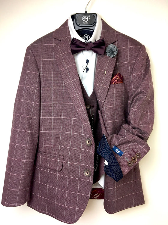 1880 Club Boys Burgundy Blazer