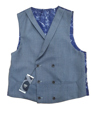 1880 Club Double Breasted Grey Waistcoat