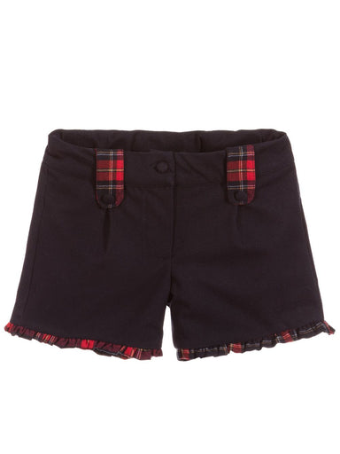 patachou girls shorts with tartan