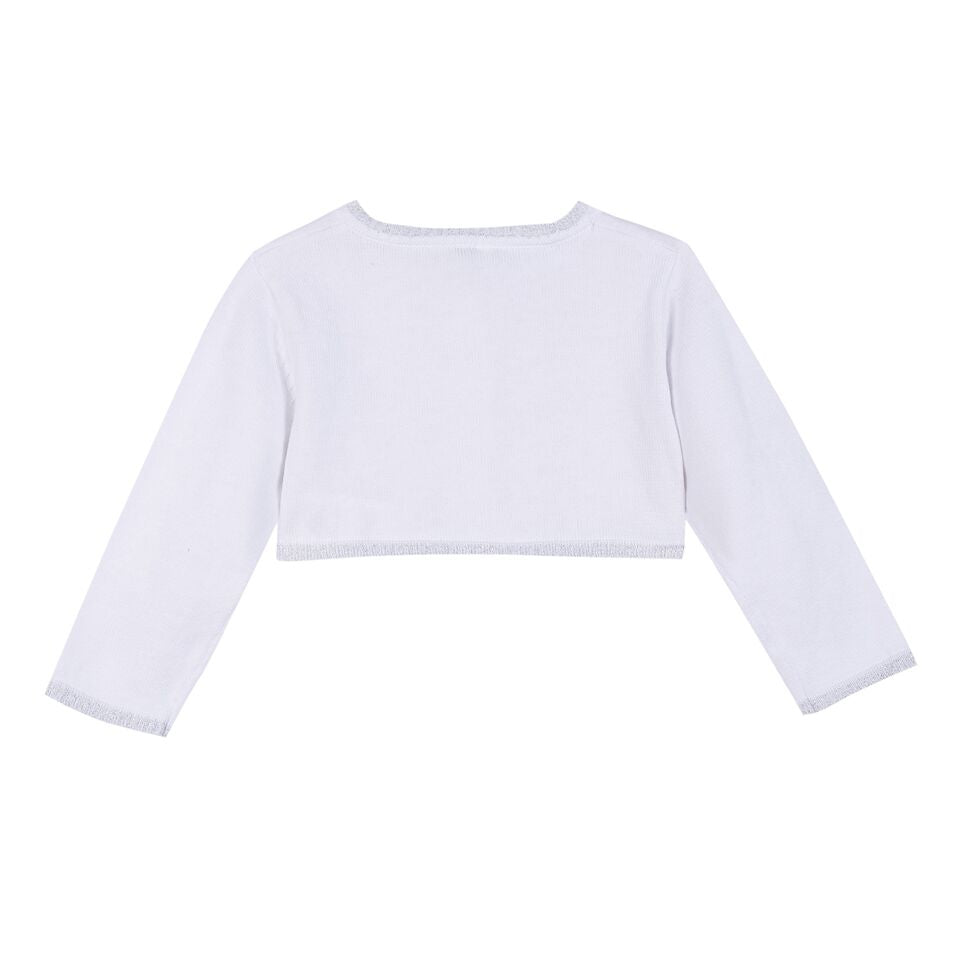 3 Pommes Baby Girls White Cardigan