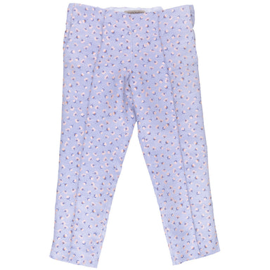 Hucklebones blue and pink floral trousers