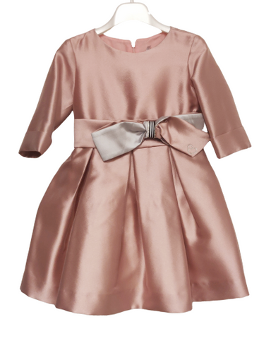 Amaya Dusty Pink Satin Dress