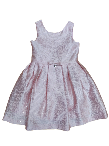 Amaya Girls Pink Sparkly Satin Dress