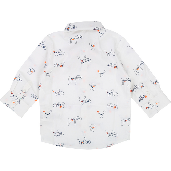 Billybandit Baby Boys Dog Print Shirt