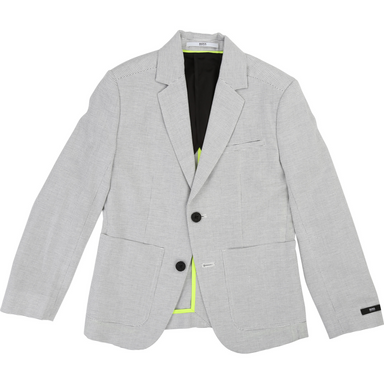 Hugo Boss Boys Grey Suit Jacket