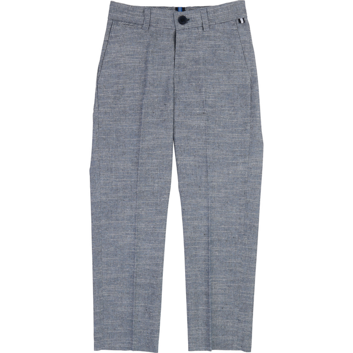 Boss Boys Grey Suit Trousers