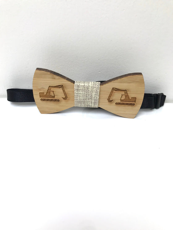 Boys Wooden Digger Bow Tie