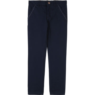 Carrement Beau Boys Navy Slim Chinos