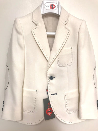 One Varon Boys Cream Blazer