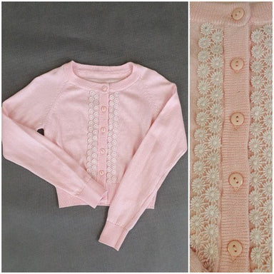 Daga Girls Pink Cotton Jumper