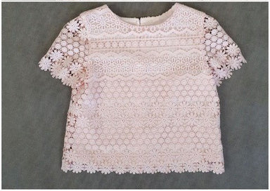 Daga Girls Pink Crochet Top