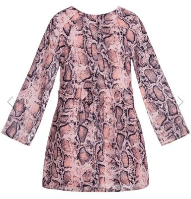 Guess Marciano Pink Snakeskin Print Dress