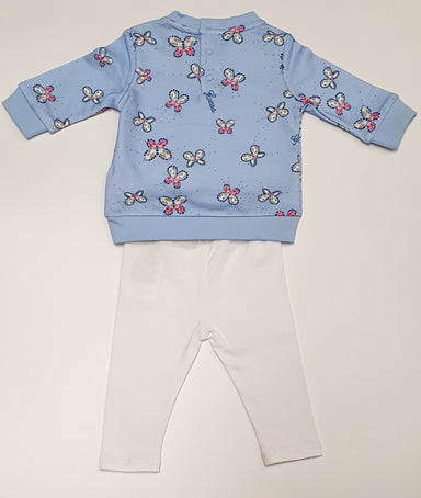 Guess Baby Girls Blue Butterfly 2pcs