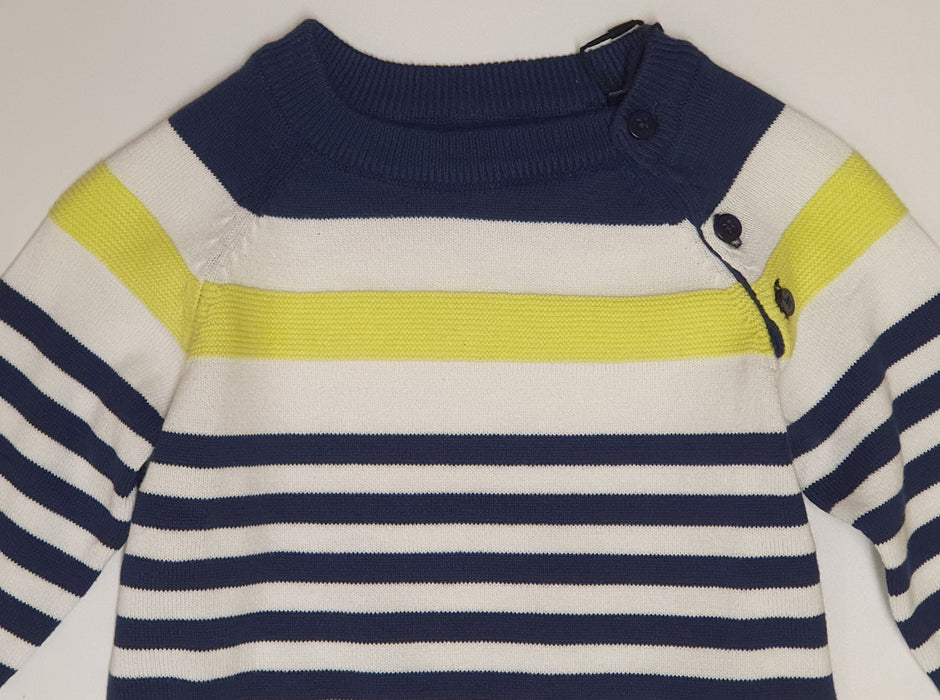 Guess Baby Boy Lime Green Striped Jumper