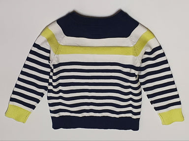 Guess Baby Boy Navy Striped Jumper
