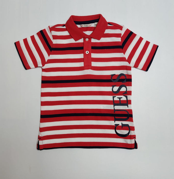 Guess Boys Orange Red Polo Shirt