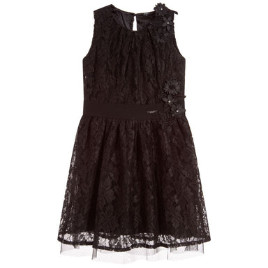 Guess Girls Black Lace Dress