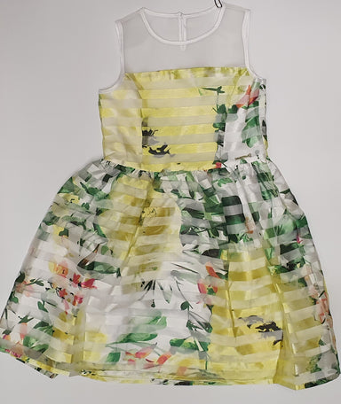 Guess Girls Green Floral Dress