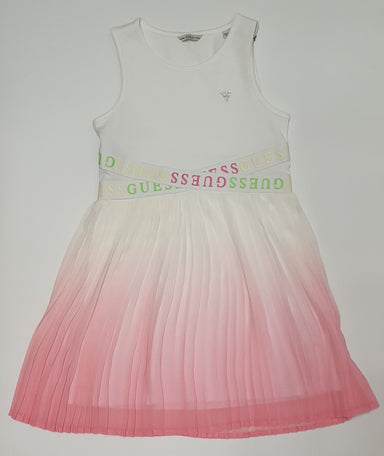 Guess Girls Pink Pleated Dress