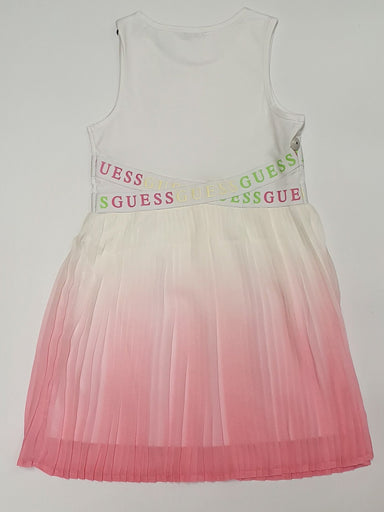 Guess Girls Pleated Pink Dress