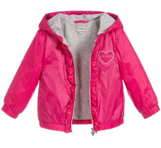 Guess Baby Girl Hot Pink Light Jacket